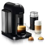 Nespresso Vertuo Coffee and Espresso Machine Bundle with Aeroccino Milk Frother by Breville
